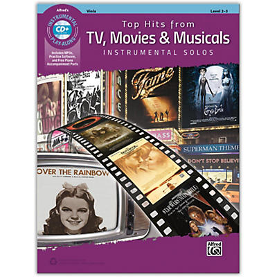 Alfred Top Hits from TV, Movies & Musicals Instrumental Solos for Strings Viola Book & CD, Level 2-3