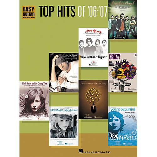 Hal Leonard Top Hits of '06-'07: Easy Guitar With Notes and Tab Songbook