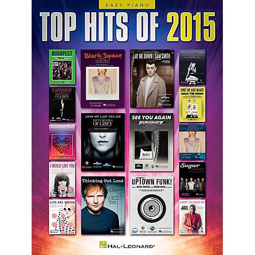 Hal Leonard Top Hits of 2015 Easy Piano Songbook