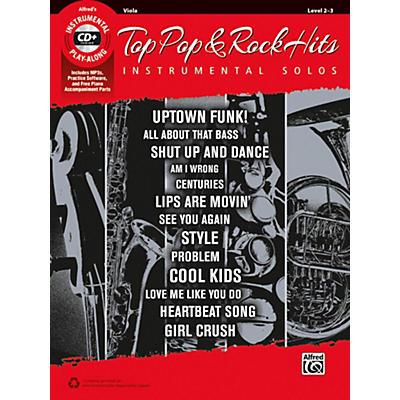 Alfred Top Pop & Rock Hits Instrumental Solos for Strings Viola Book & CD