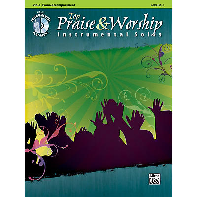 Alfred Top Praise & Worship Instrumental Solos - Viola, Level 2-3 (Book/CD)