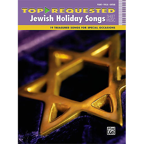 Alfred Top-Requested Jewish Holiday Songs Sheet Music Piano/Vocal/Guitar Book