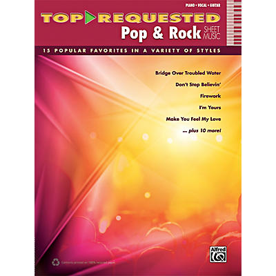 Alfred Top-Requested Pop & Rock Sheet Music P/V/G Book