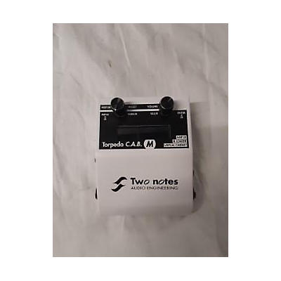 Two Notes Audio Engineering Torpedo C.A.B. M Speaker Simulator Effect Processor
