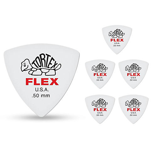 Dunlop Tortex Flex Triangle Guitar Picks .50 mm 6 Pack