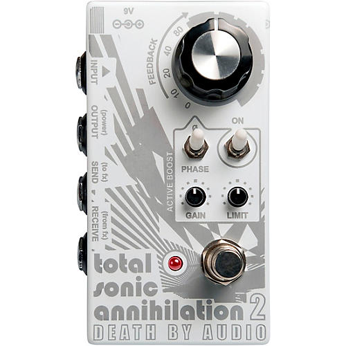 Death By Audio Total Sonic Annihilation 2 Forced Feedback Loop Noise Effects Pedal White