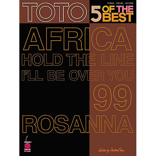 Cherry Lane Toto - 5 of the Best Piano/Vocal/Guitar Artist Songbook