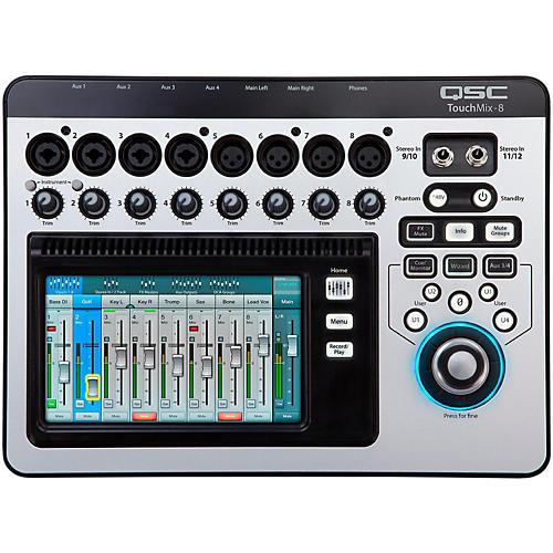 qsc touchmix 8 8 channel compact digital mixer musician 39 s friend. Black Bedroom Furniture Sets. Home Design Ideas
