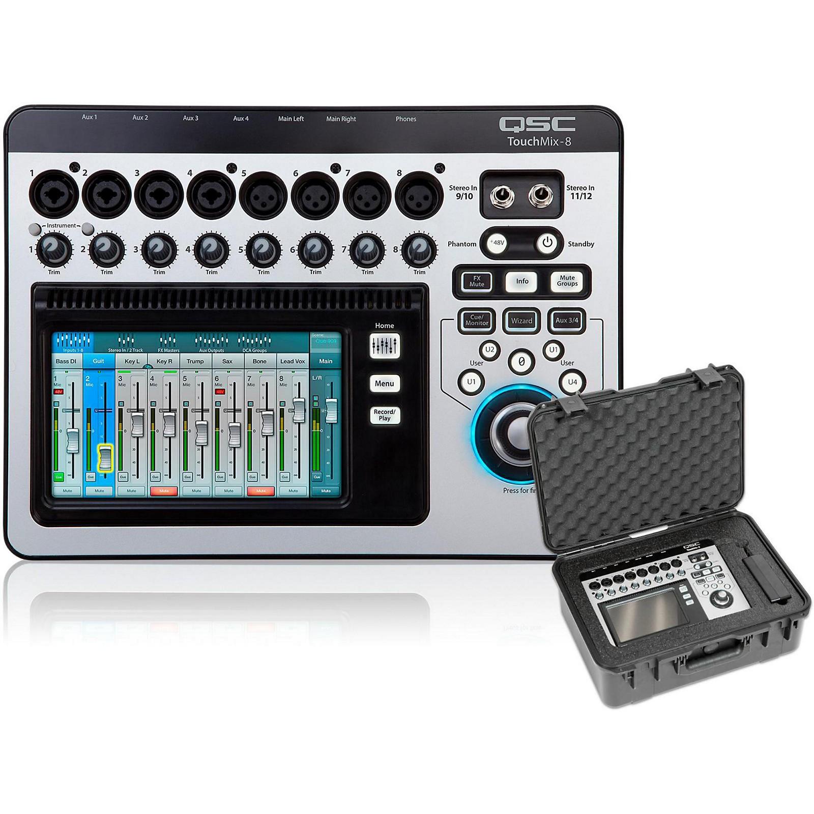 QSC TouchMix-8 Compact Digital Mixer with Case