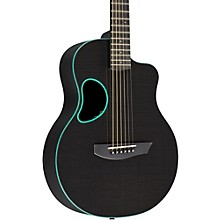 Touring Carbon Fiber Acoustic-Electric Guitar Sage Green Binding