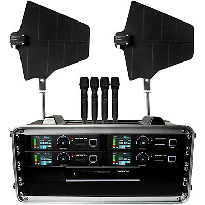 VocoPro Touring Grade True Diversity Wireless System with Antenna Distribution System and Active Directional Antennas