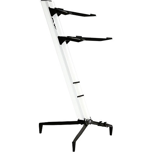 stay tower series double tier keyboard stand white musician 39 s friend. Black Bedroom Furniture Sets. Home Design Ideas