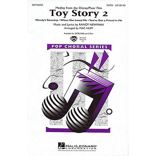 Hal Leonard Toy Story 2 (Medley) 2-Part Arranged by Mac Huff