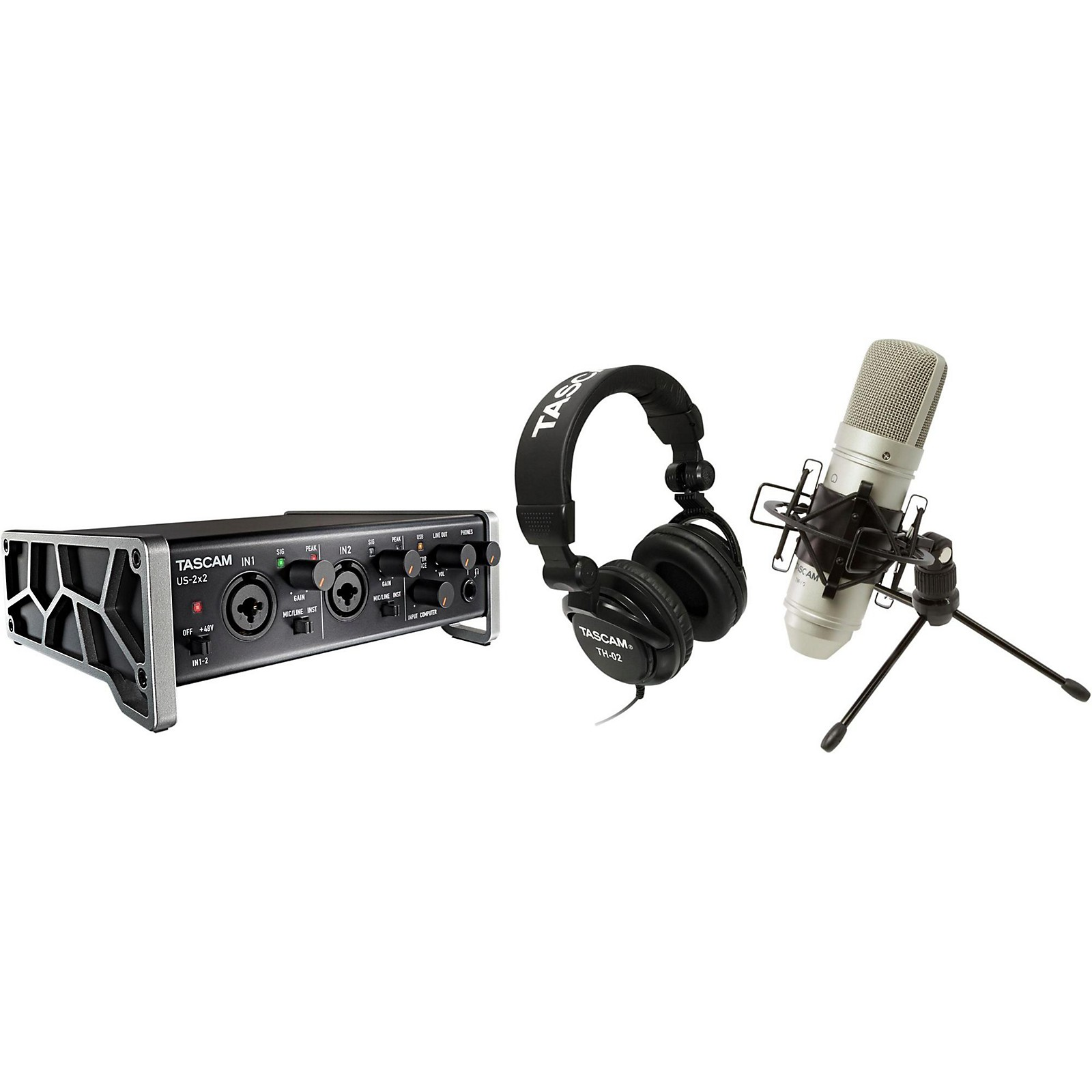 Tascam TrackPack 2x2 Complete Recording Studio for Mac/Windows
