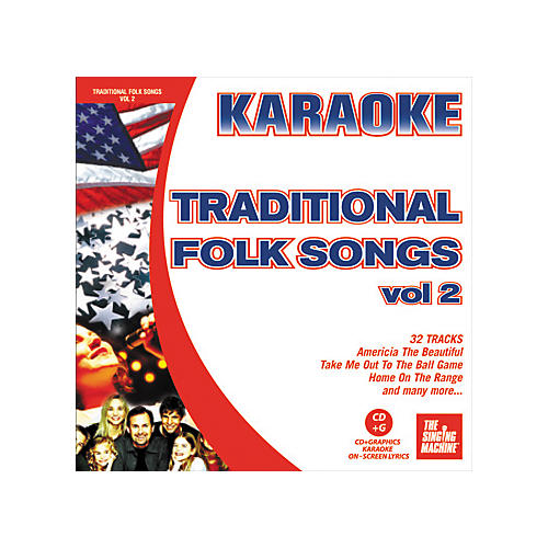 The Singing Machine Traditional Folk Songs Volume 2 Karaoke CD+G