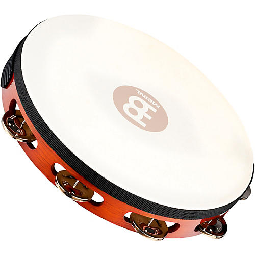 Meinl Traditional Goat-Skin Wood Tambourine Single Row