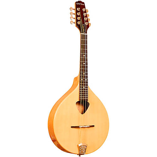 Gold Tone Traditional Left-Handed Irish Mandola with Case Gloss Natural