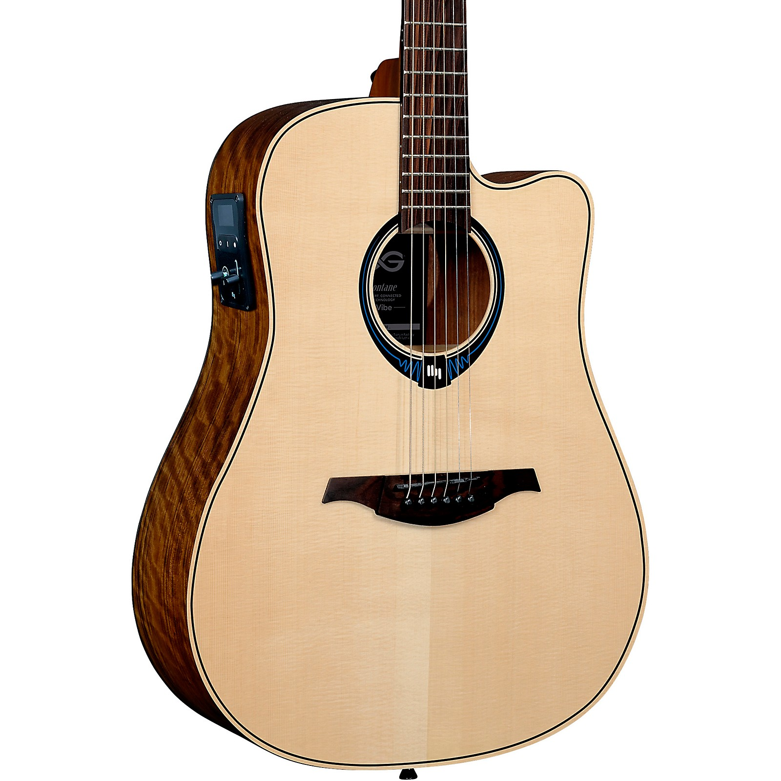 Lag Guitars Tramontane HyVibe THV20DCE Dreadnought Acoustic-Electric Smart Guitar