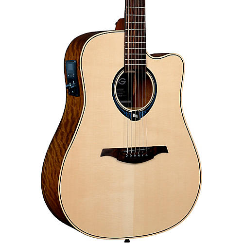 Lag Guitars Tramontane HyVibe THV20DCE Dreadnought Acoustic-Electric Smart Guitar Natural