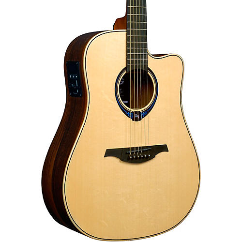 Lag Guitars Tramontane HyVibe THV30DCE Dreadnought Acoustic-Electric Smart Guitar Natural