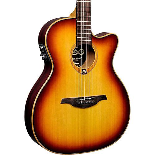 lag guitars tramontane t100asce slim line auditorium cutaway acoustic electric guitar musician. Black Bedroom Furniture Sets. Home Design Ideas