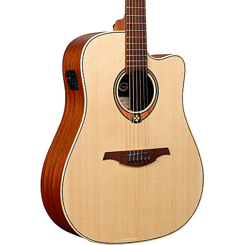 Lag Guitars Tramontane T170DCE Dreadnought Acoustic-Electric Guitar Satin Natural