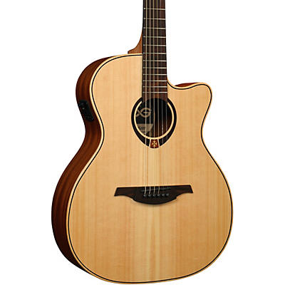 Lag Guitars Tramontane T70ACE Auditorium Cutaway Acoustic-Electric Guitar