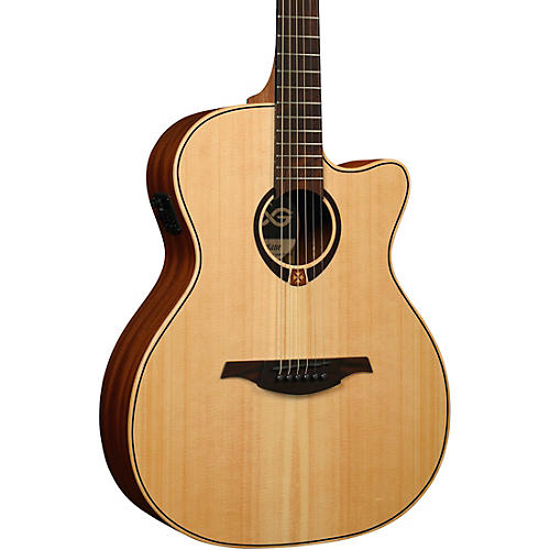 Lag Guitars Tramontane T70ACE Auditorium Cutaway Acoustic-Electric Guitar Satin Natural