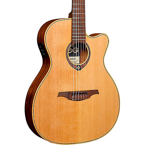 Lag Guitars Tramontane TN170ASCE Auditorium Cutaway Acoustic-Electric Classical Guitar Natural
