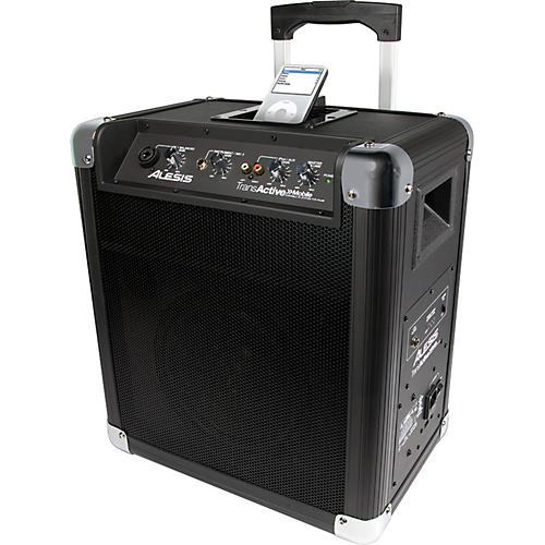 Alesis Transactive Mobile Roller PA With iPod Dock Black