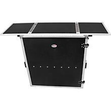 Open BoxProX Transformer Series Fold Away DJ Performance Desk Facade Black/Black with Wheels