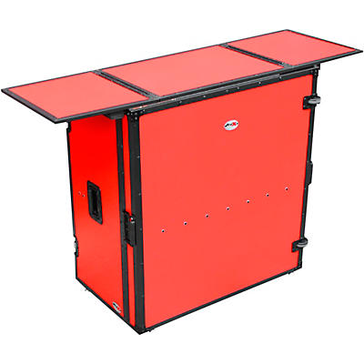 ProX Transformer Series Fold Away DJ Table - Red/Black (XS-DJSTNRB)
