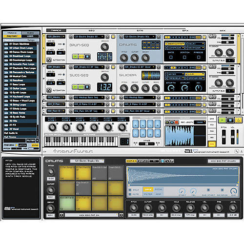 Transfuser Virtual Instrument Software