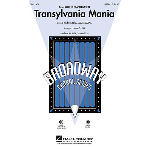 Hal Leonard Transylvania Mania (from Young Frankenstein) SATB arranged by Mac Huff