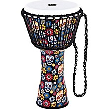 Travel Series Djembe with Synthetic Head in Day of the Dead Finish 10 in. Day of the Dead