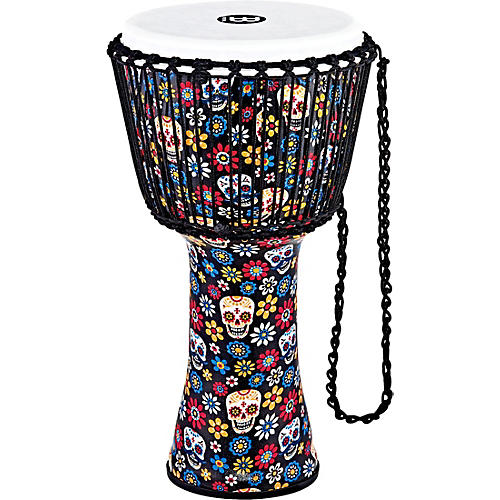 Meinl Travel Series Djembe with Synthetic Head in Day of the Dead Finish 12 in. Day of the Dead