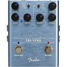 Open Box Fender Tre-Verb Digital Tremolo and Reverb Effects Pedal