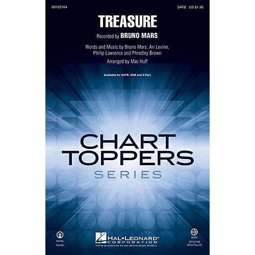 Hal Leonard Treasure 2-Part by Bruno Mars Arranged by Mac Huff