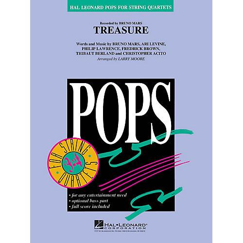 Hal Leonard Treasure Pops For String Quartet Series by Bruno Mars Arranged by Larry Moore