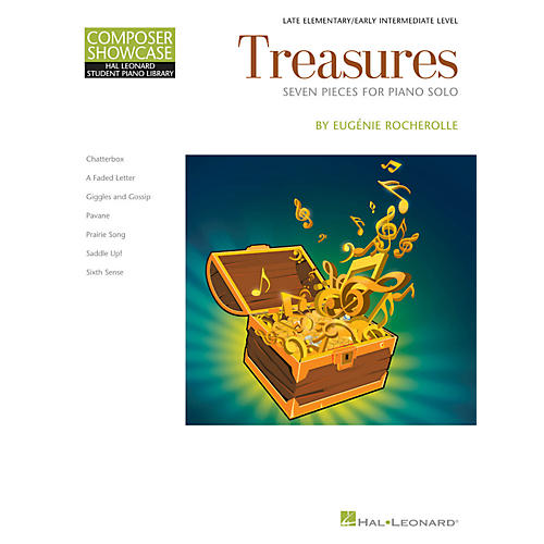 Hal Leonard Treasures by Eugenie Rocherolle - Hal Leonard Composer Showcase Late Elementary Piano Solo