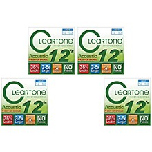 Cleartone Treated Light Acoustic Guitar Strings Four Pack
