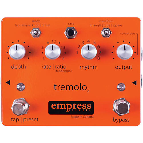 Empress Effects Tremolo2 Tremolo Guitar Effects Pedal