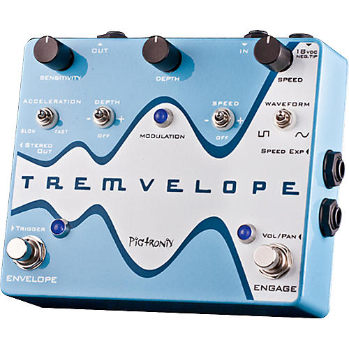 Pigtronix Tremvelope Tremolo Guitar Effects Pedal