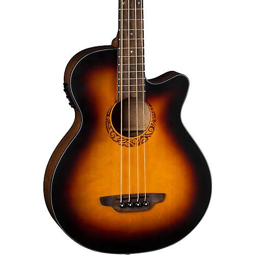 Luna Guitars Tribal Acoustic-Electric Bass Tobacco Sunburst