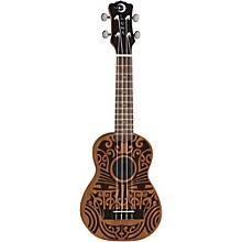 Open BoxLuna Guitars Tribal Soprano Ukulele