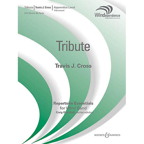 Boosey and Hawkes Tribute (Score Only) Concert Band Level 3 Composed by Travis J. Cross