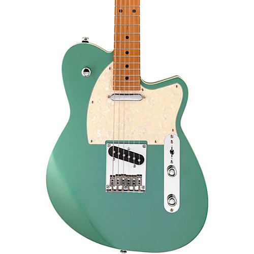 Reverend Trickshot Roasted Maple Electric Guitar Metallic Alpine