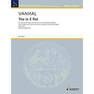 Schott Trio E Flat Major Op. 20, No. 5 Schott Series by Johann Baptist Vanhal