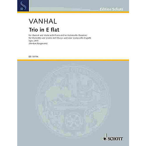 Schott Trio E Flat Major Op. 20, No. 5 Schott Series by Johann Baptist Vanhal