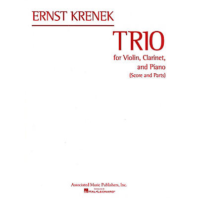 Associated Trio (Score and Parts) Misc Series Composed by Ernst Krenek